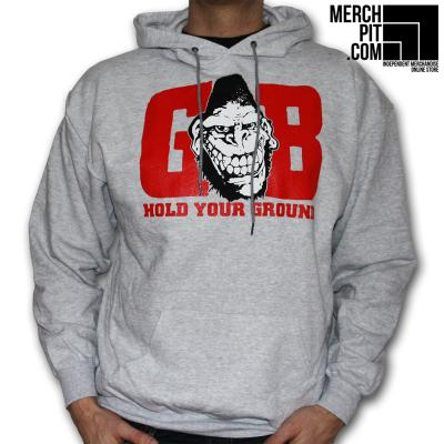 GORILLA BISCUITS ´Hold Your Ground´ - Light Grey Heather Hoodie