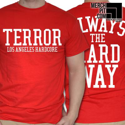 TERROR ´Alway The Hard Way´ Red [Shirt]