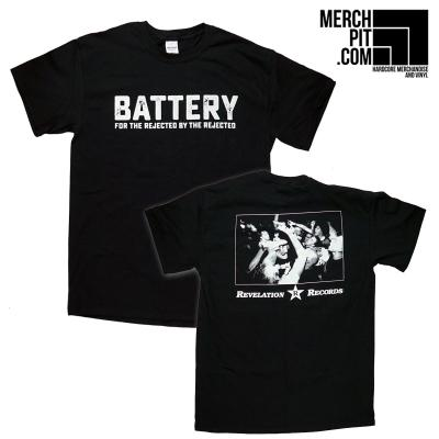 BATTERY ´For The Rejected By The Rejected´ - Black T-Shirt