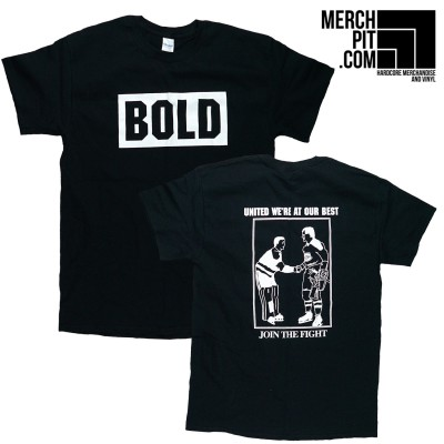 BOLD ´Join The Fight´ - Black T-Shirt