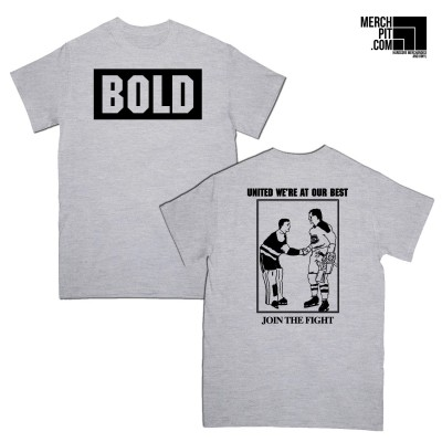 BOLD ´Join The Fight´ - Sports Grey T-Shirt