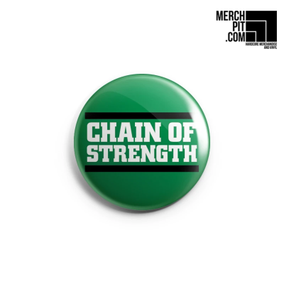 CHAIN OF STRENGTH ´Logo on Green´ - Button
