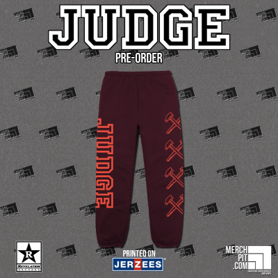 JUDGE ´Logo´ - Maroon Sweatpants