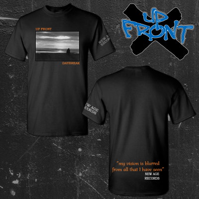 UP FRONT ´Daybreak´ - Black T-Shirt [PRE-ORDER]