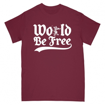 WORLD BE FREE ´Rev Rat´ - Maroon - T-Shirt