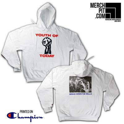 YOUTH OF TODAY ´Break Down The Walls´ White [Hoodie]
