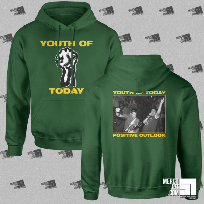 YOUTH OF TODAY ´Break Down The Walls - Fist´ - Green - Hoodie