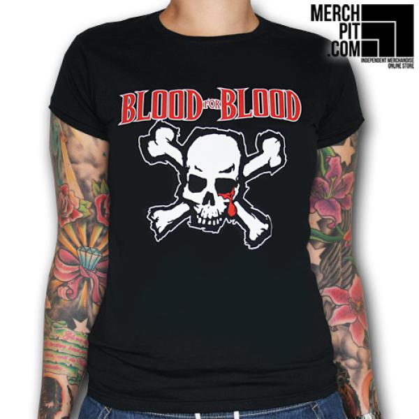 Blood For Blood - Classic Skull - Girl Shirt