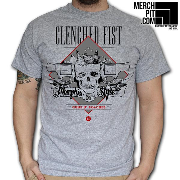 Clenched Fist - Guns N' Roaches - T-Shirt