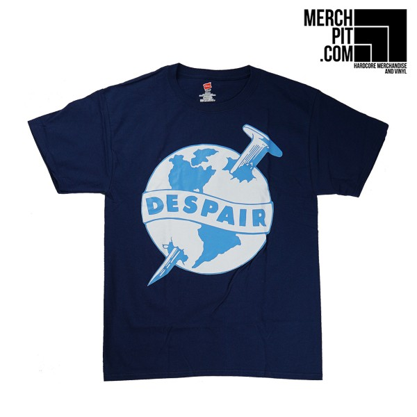 DESPAIR ´Nail´ - Navy Blue T-Shirt