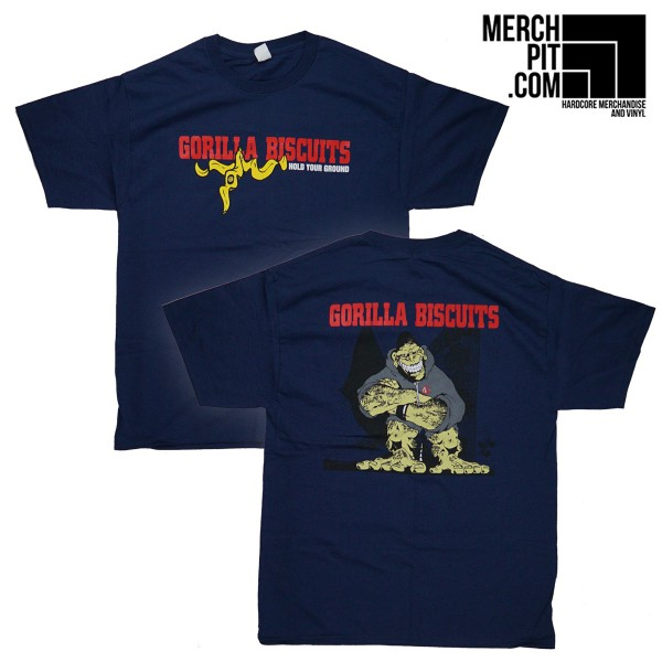 GORILLA BISCUITS ´Hold Your Ground´ - Navy Blue T-Shirt