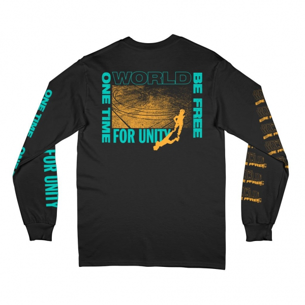 WORLD BE FREE ´One Time For Unity´ - Black Longsleeve